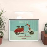 Vintage retro poster Clean Living under Optimum Circumstances by Kevin McSherry for Scooterola