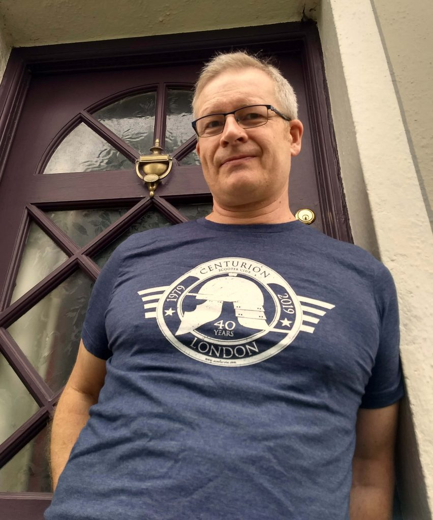 Kevin McSherry wearing the 2019 Centurion SC celebration Tee